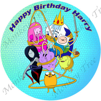 adventure time edible cake image fondant