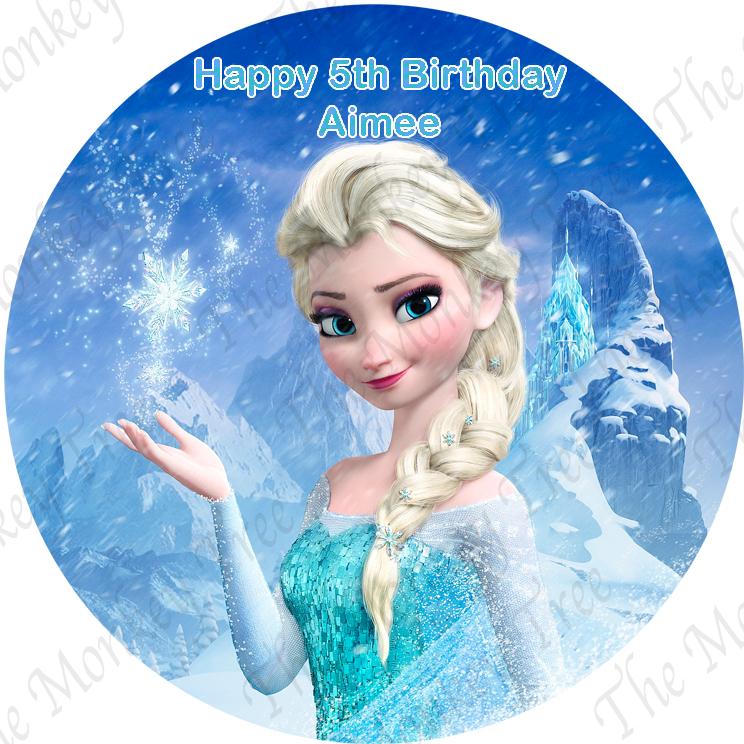 frozen elsa anna edible cake image topper cupcakes fondant