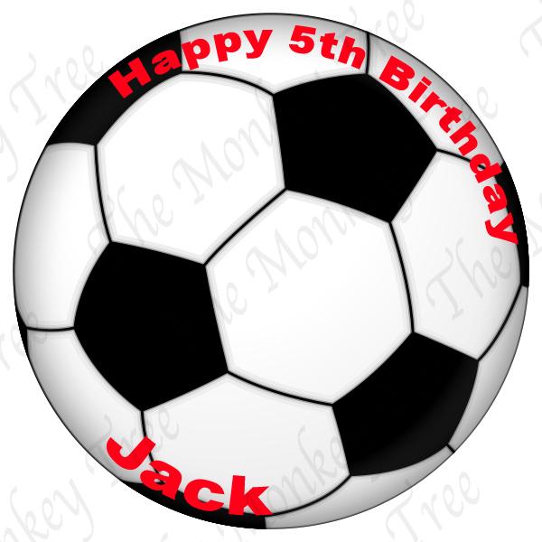 soccer football edible cake image