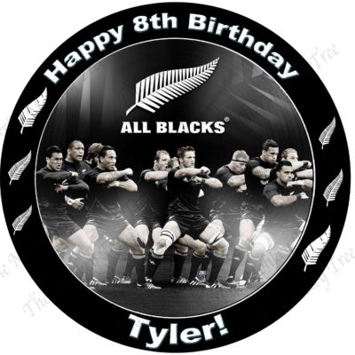 all blacks rugby edible cake image fondant cupcake