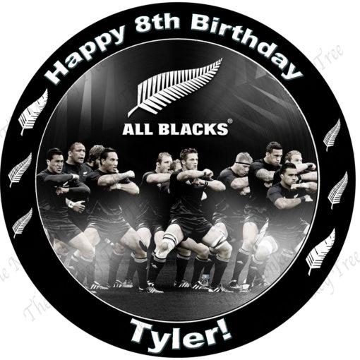 all blacks rugby edible cake image fondant cupcake