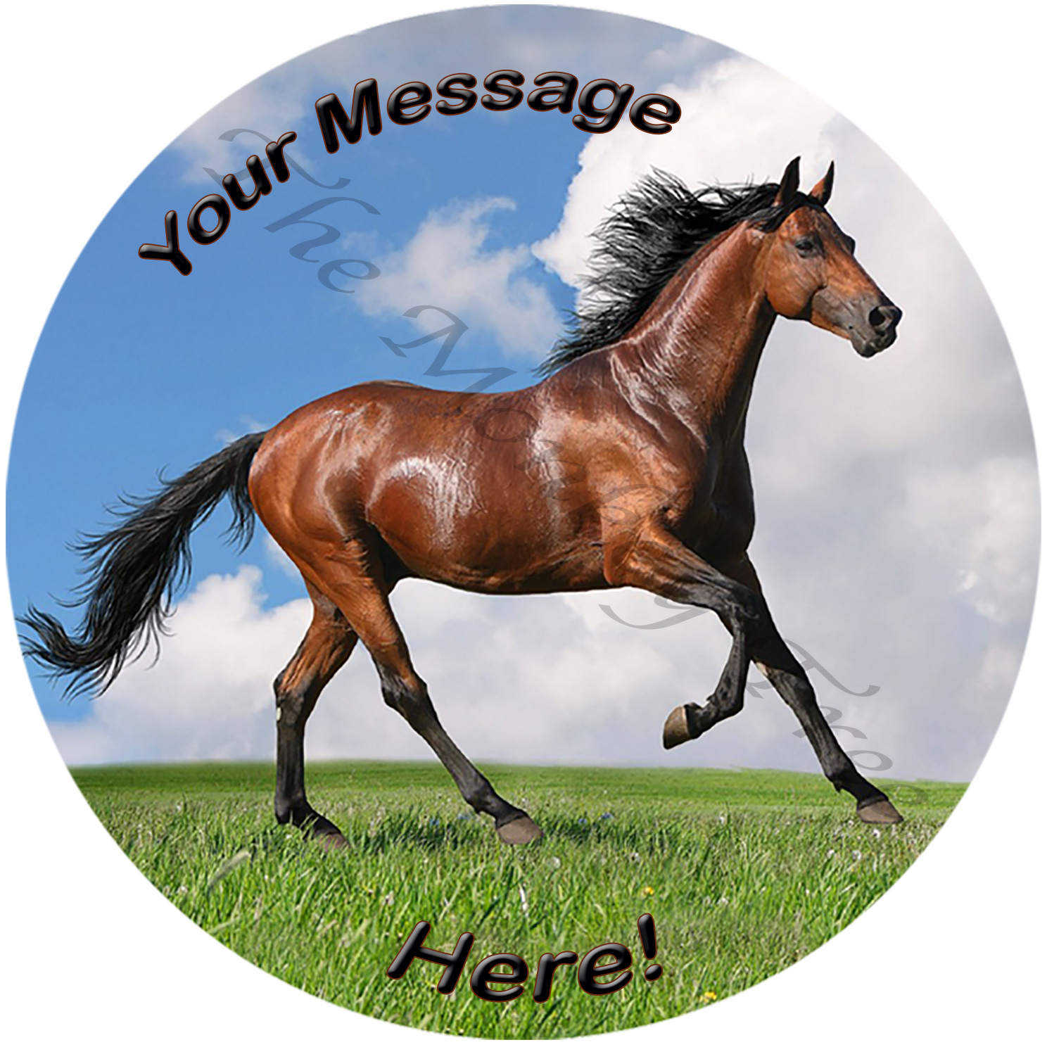 brown horse edible cake image fondant