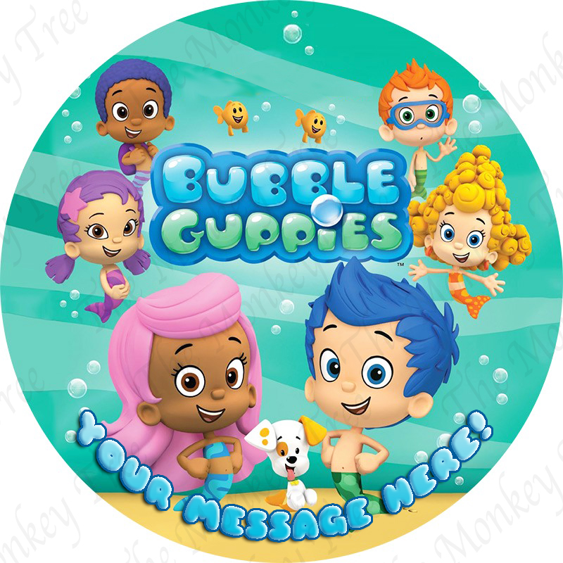 bubble guppies edible cake image fondant