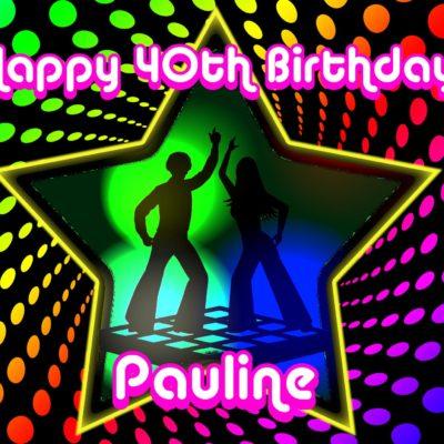disco party birthday edible cake image fondant