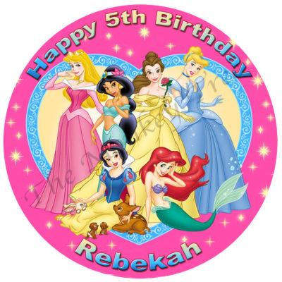 disney princess edible cake image fondant ariel snow white cinderella aurora jasmin