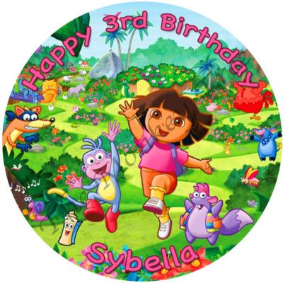 dora boots edible cake image topper fondant birthday party