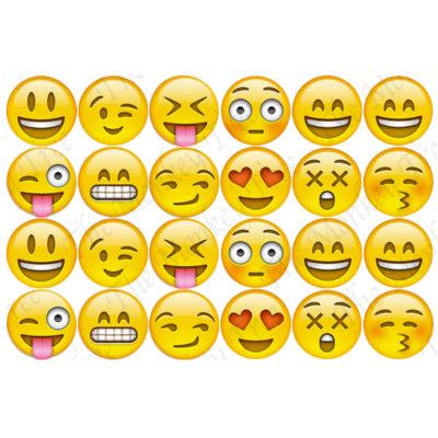 emoji edible cake image fondant cupcake
