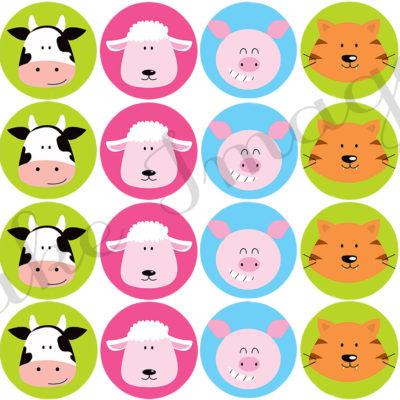 farm animals cupcake birthday party