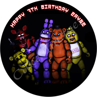 FNAF 5 nights at freddys edible cake image fondant