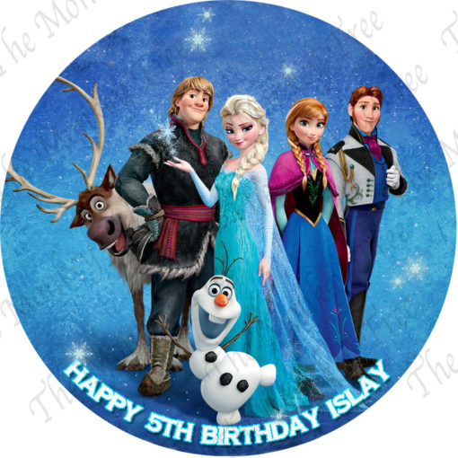 Elsa Anna Olaf Frozen edible cake image Auckland birthday party cake