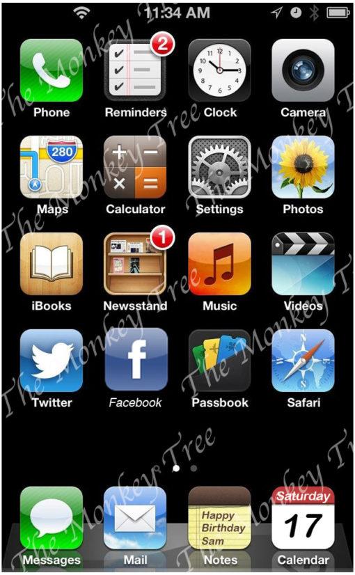 iPhone screen edible cake image fondant