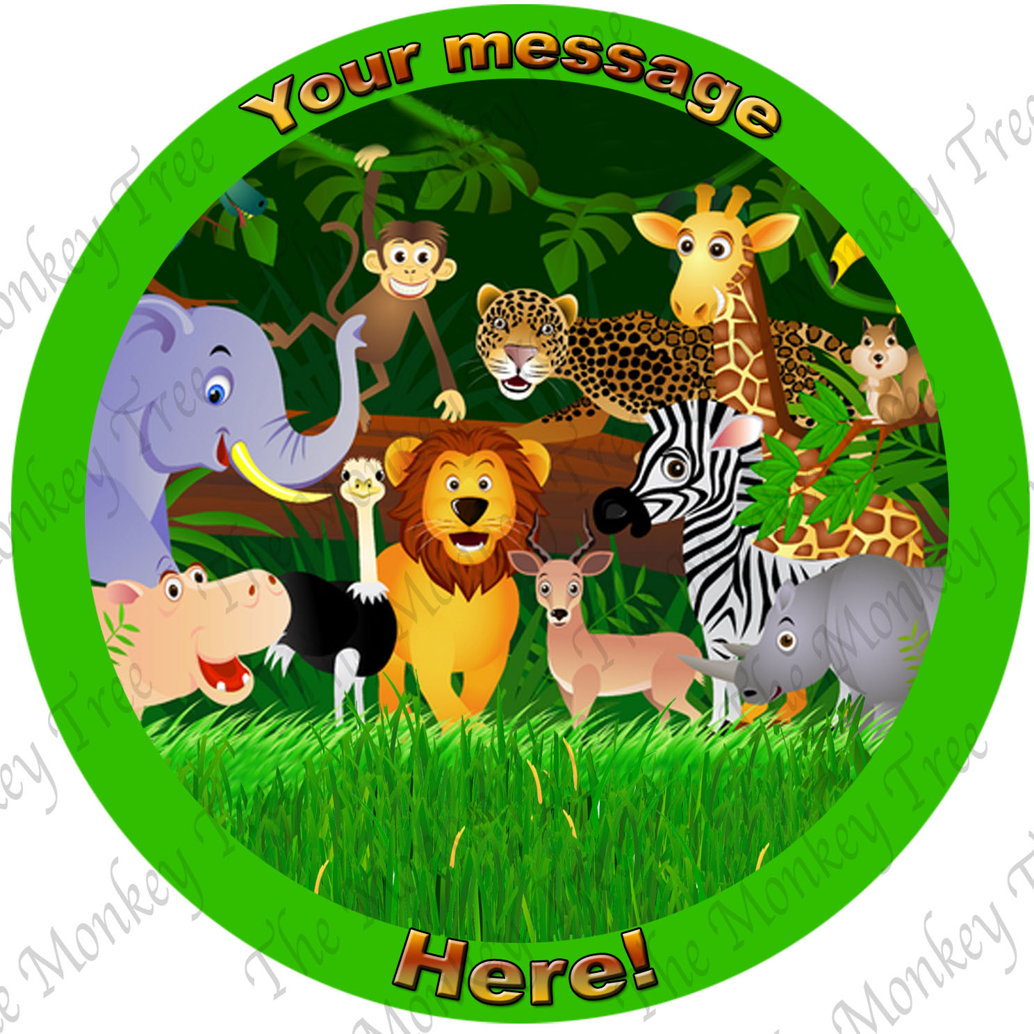 Jungle Animal Themed Edible Images Choose From 4 The