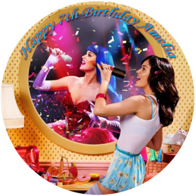 katy perry music disco edible image fondant cake