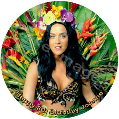 katy perry roar music disco edible image fondant cake