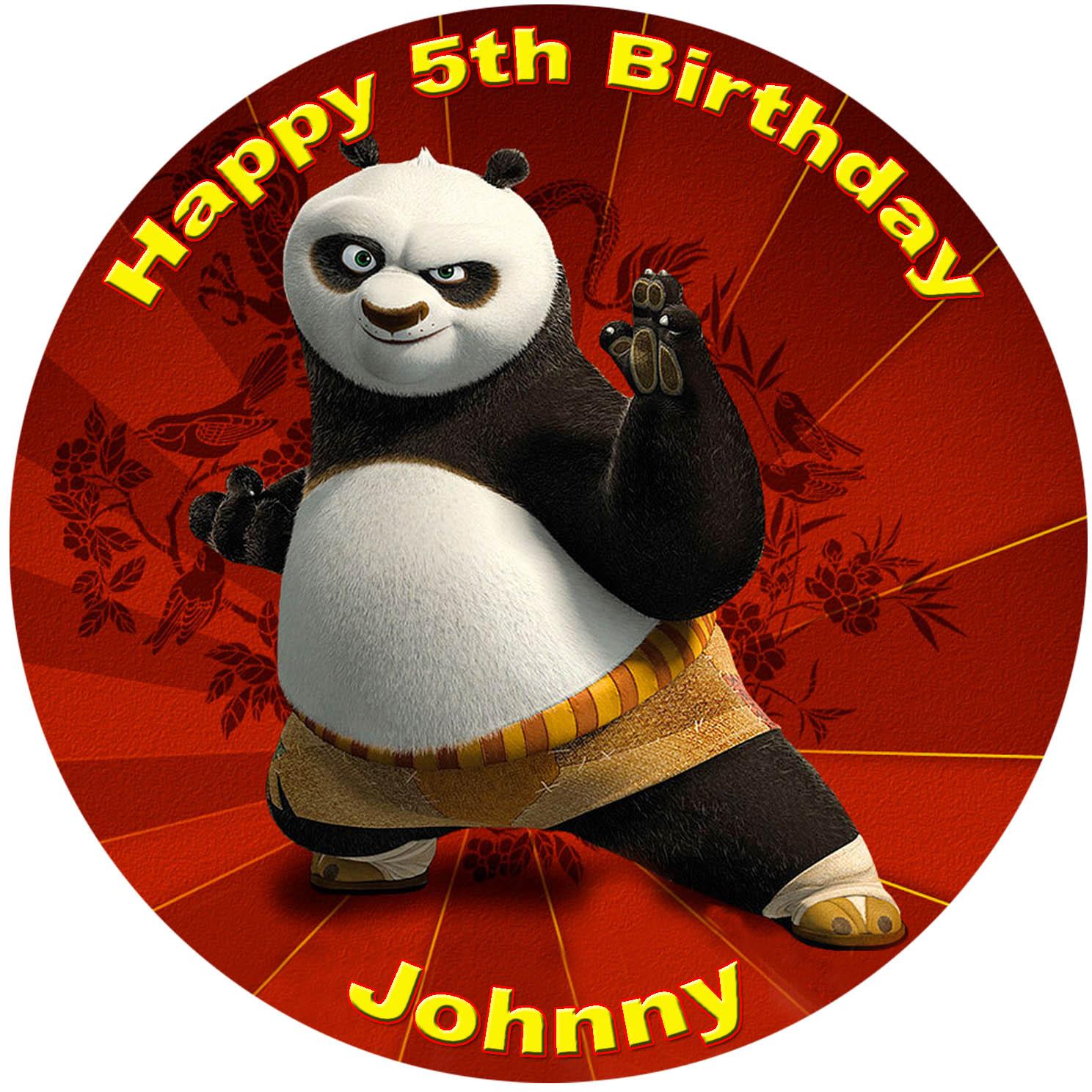 kung fu panda edible image fondant cake