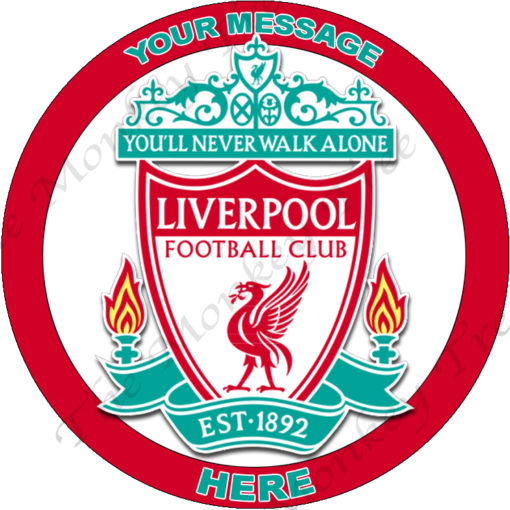 liverpool fc football soccer logo edible image fondant cake