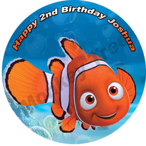 nemo underwater mermaid edible image fondant cake fish tropical