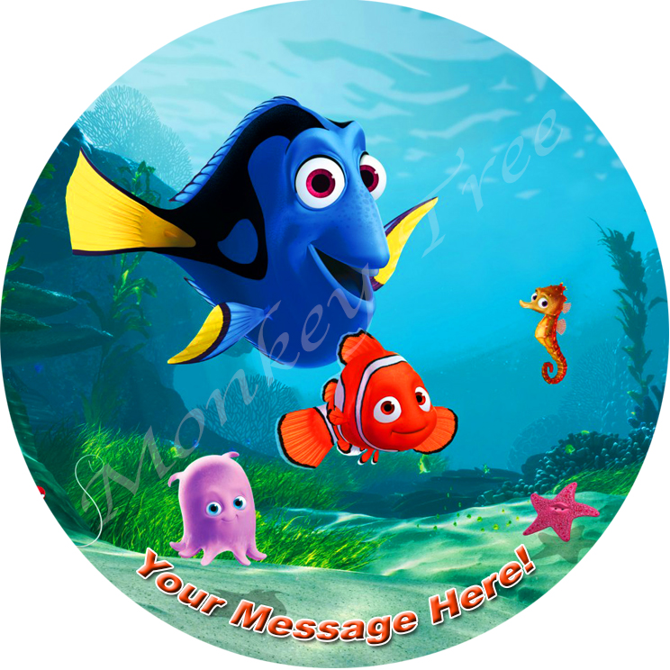 nemo dory underwater fish mermaid edible image fondant cake