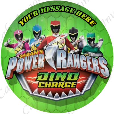 power rangers dino charge edible image fondant cake