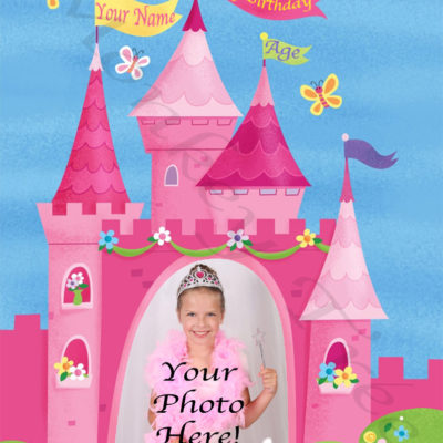 princess castle photo edible image fondant cake unicorn