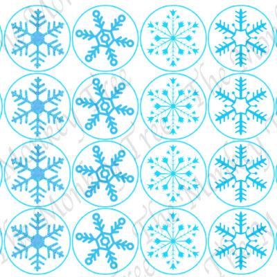 frozen snowflake edible cake image fondant cupcake