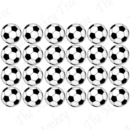 soccer balls football edible cake image fondant cupcake