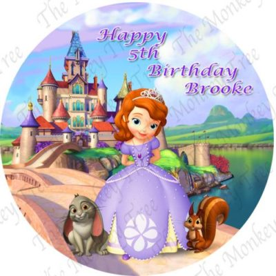 sofia the first edible image cake fondant