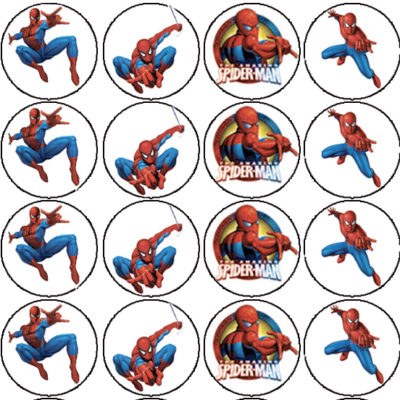 spiderman edible cake image fondant cupcake