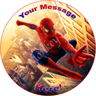 Spiderman Superhero Edible Cake Image Topper birthday party cupcake