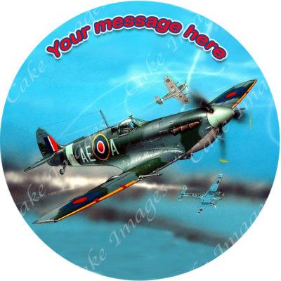 edible image fondant cake spitfire plane airplane war