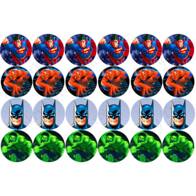 superhero cupcake images batman hulk superman Spiderman