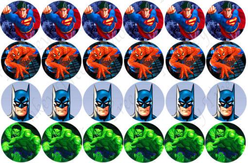 superhero cupcake images batman hulk superman Spiderman
