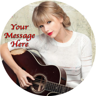 edible image fondant cake taylor swift music