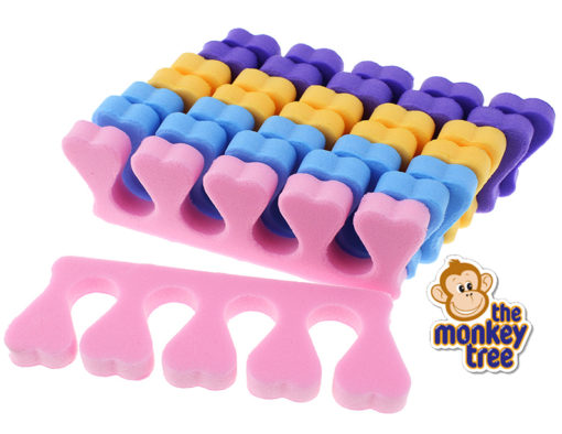 pamper party loot gift bag toe separators nail polish