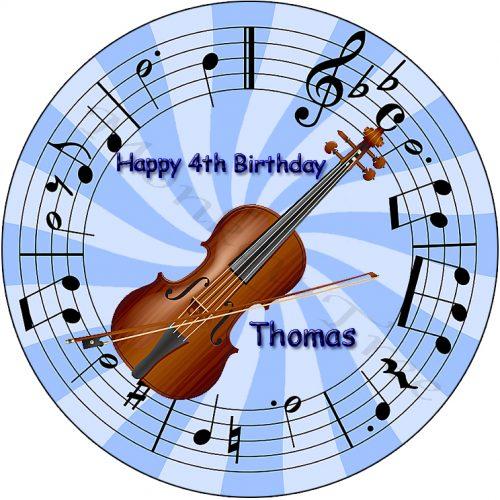 edible image fondant cake music violin