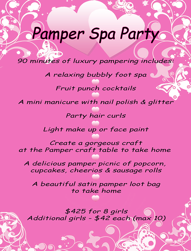 Pamper Spa Party | The Monkey Tree