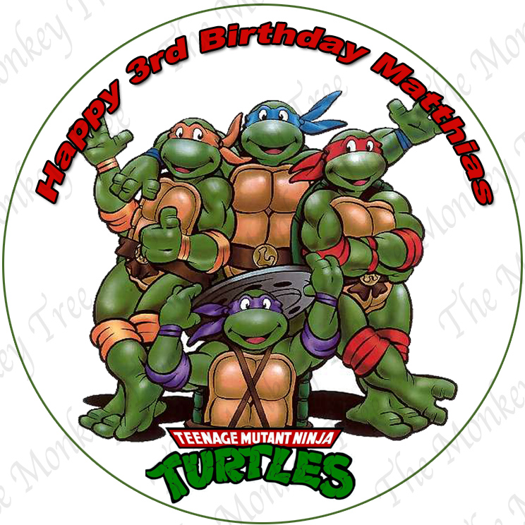 TMNT Personalised Edible Cake Images choose from 8 The Monkey Tree