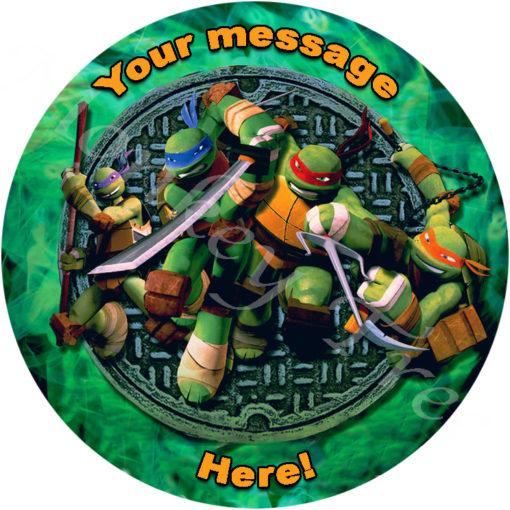 TMNT teenage mutant ninja turtle edible cake image