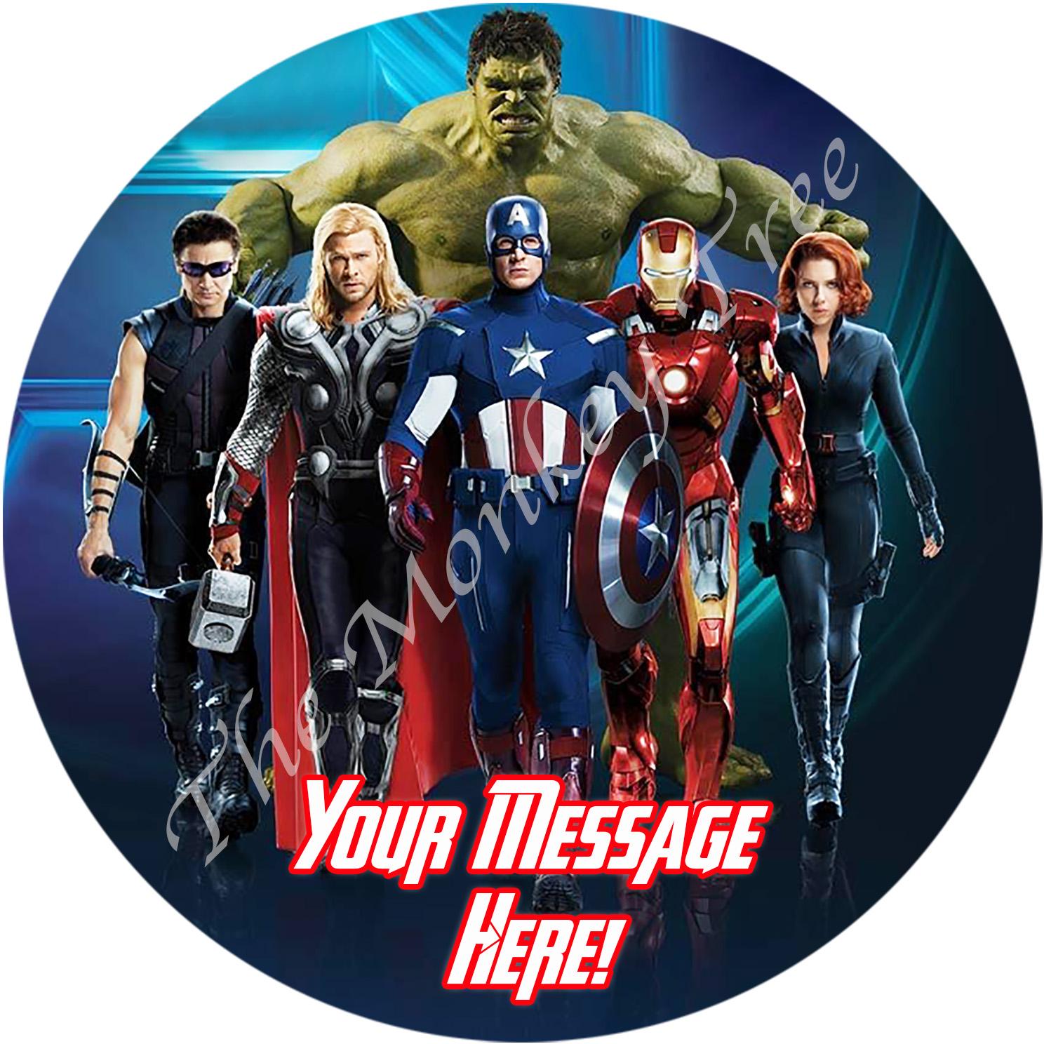 Avengers Personalised Edible Cake Image 1 | The Monkey Tree