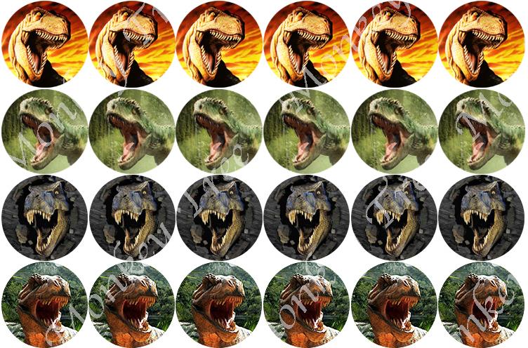 Jurassic Park Edible Stickers Theme Cake