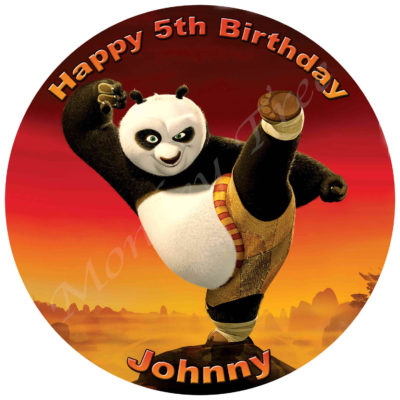 kung fu panda edible cake image birthday party