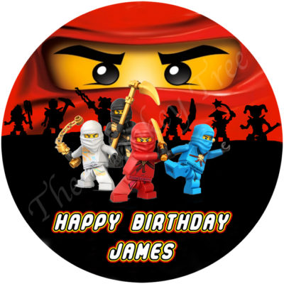 ninjago edible cake image party lego