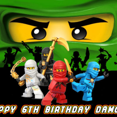 lego ninjago Lloyd cake topper edible image birthday party