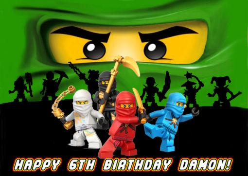 lego ninjago Lloyd cake topper edible image birthday party