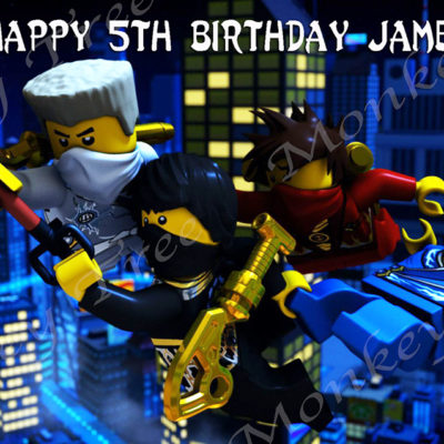 lego ninjago edible cake image topper birthday party spinjitsu