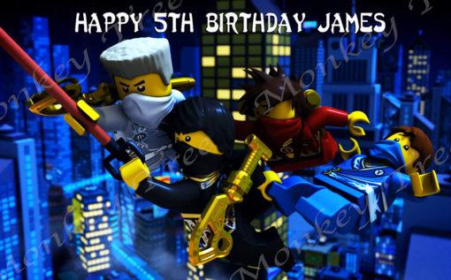 lego ninjago edible cake image topper birthday party spinjitsu