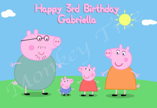 peppa pig edible cake image birthday party