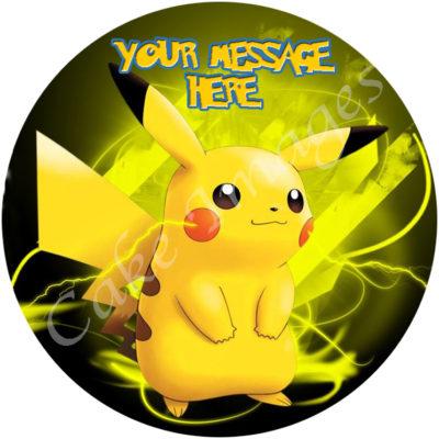Pokemon Pikachu A4 Personalised Edible Cake Image The