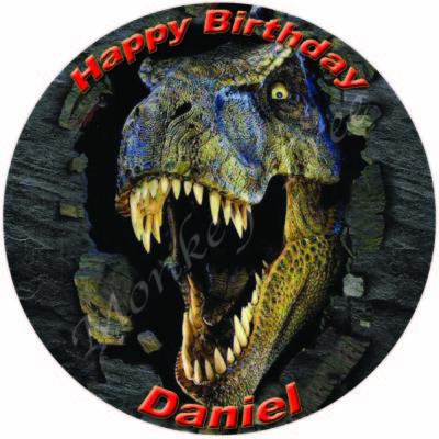 t rex dinosaur edible cake image fondant jurassic world park birthday cake cupcake
