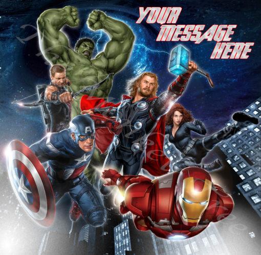avengers edible image birthday cake superhero ironman hulk captain America end game Spiderman